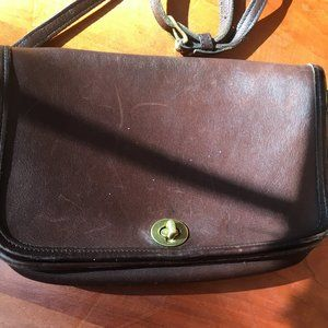 Coach Cross-body purse - dark chocolate leather